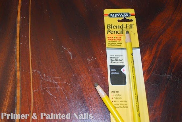 Kitchen Table Stain Pencils - Primer & Painted Nails