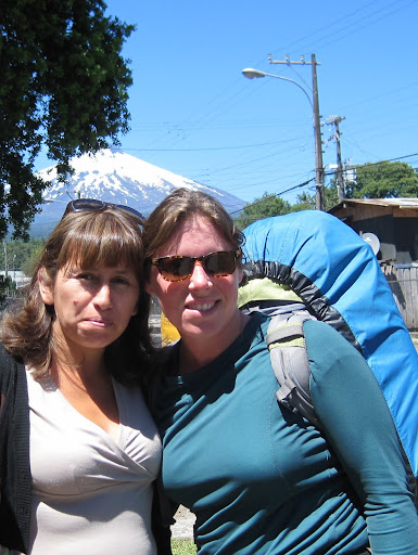 Heather with Valentina from Hostal Emalafquen.
