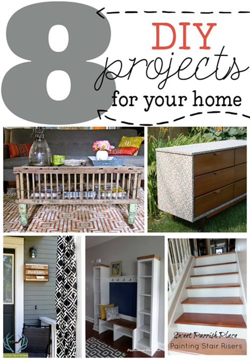 8 DIY Projects for Your Home at GingerSnapCrafts.com #diy #home #linkparty #features_thumb