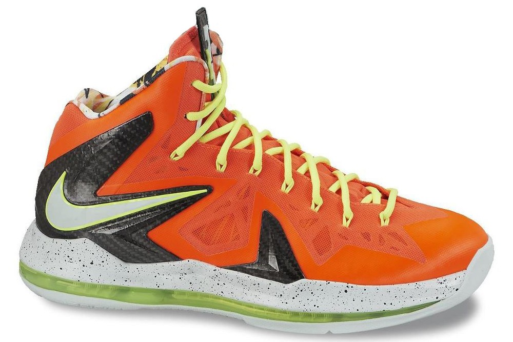 Nike LeBron X Elite Total Crimson Sneakers (Total Crimson/Fiberglass-Black-Volt)