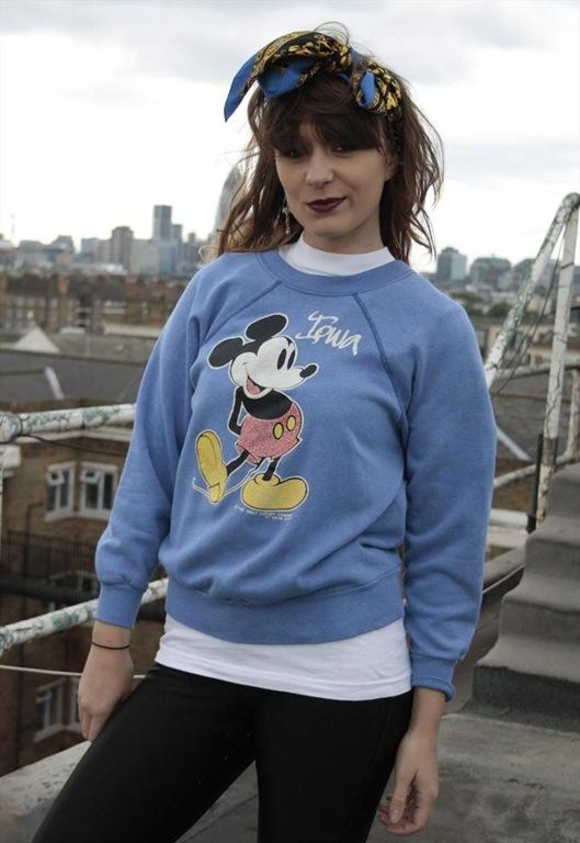 Vintage 80's Mickey Mouse Iowa Sweatshirt, £28, Sam Greenberg Vintage