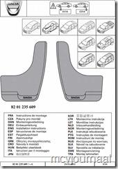 Spatlappen Dacia universeel 01