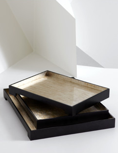 Aren't these lacquer tray so chic? They are part of the home collection from Natori (natori.com).
