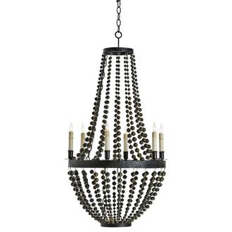 This iron and brass chandelier looks like an exotic treasure.  (shopgreige.com)