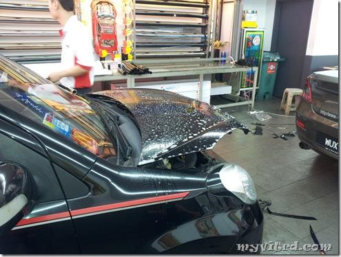 install sticker carbon fiber 3