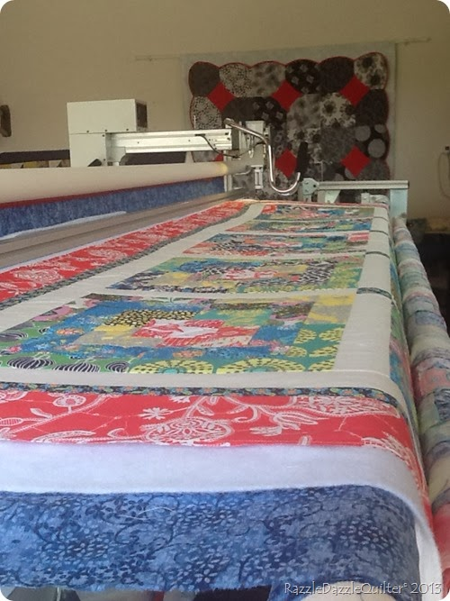 maureens quilt on frame