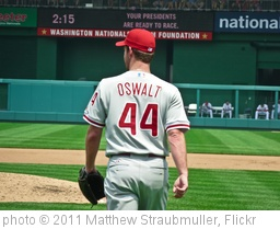 'Roy Oswalt headed out to the mound' photo (c) 2011, Matthew Straubmuller - license: http://creativecommons.org/licenses/by/2.0/