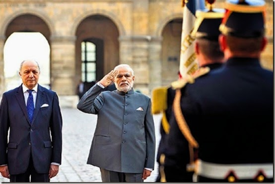 PM-Modi-saluting-French-for36-instead-of-40-Rafales