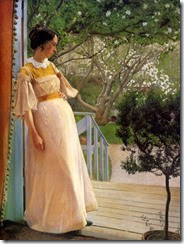 In the Garden Doorway, The Artist's Wife
