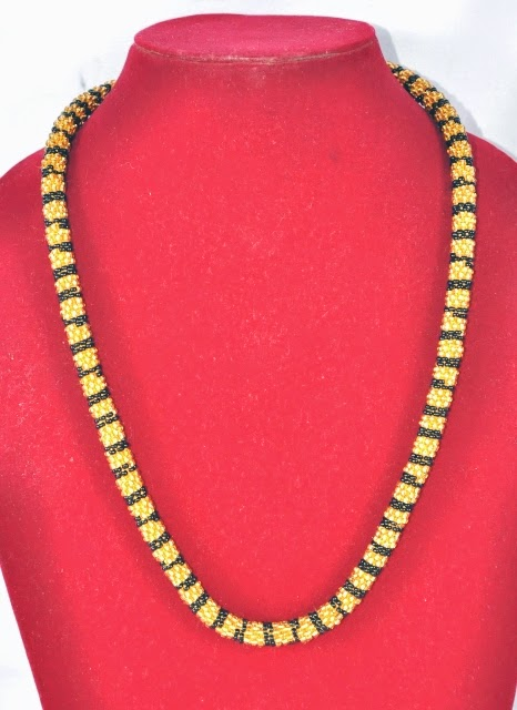Glass Bead Necklace 18 inch