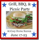 1 BBQ Party Button- For Blog