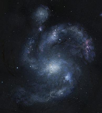 ilustração da galáxia BX442