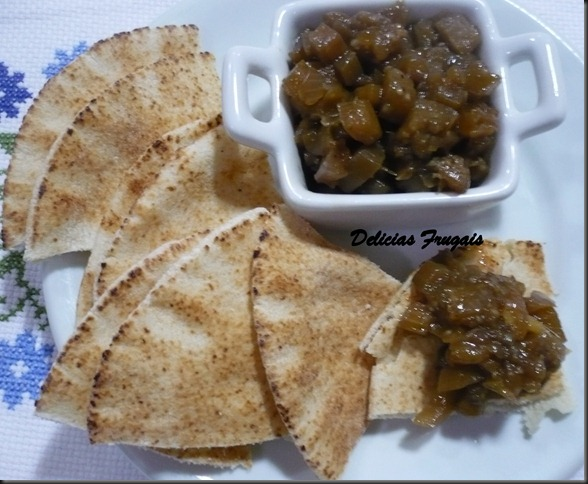 Chutney de berinjela - delicias frugais.