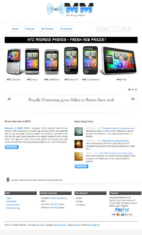 OMM- Online Mobile Market
