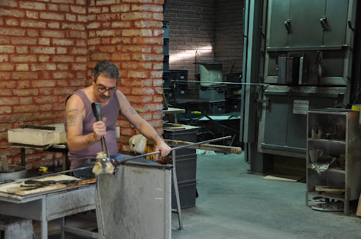 Glass blower on Murano