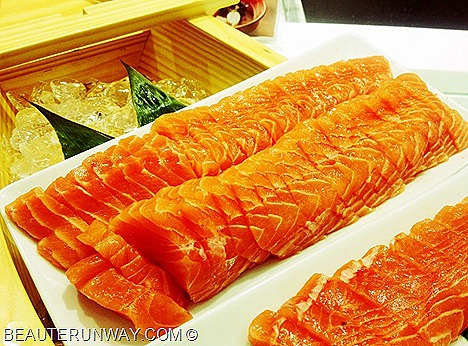 CHISO ZANMAI SALMON SASHIMI, FISHHEAD, SALAD, SUSHI, SOBA, JAPANESE BUFFET THE CENTRAL, CLARKE QUAY SINGAPORE