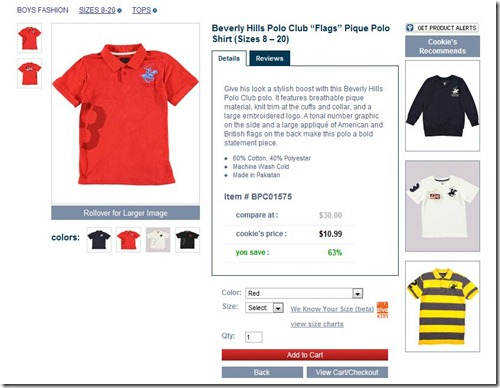 Beverly Hills Red Polo