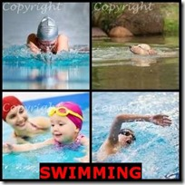 SWIMMING- 4 Pics 1 Word Answers 3 Letters