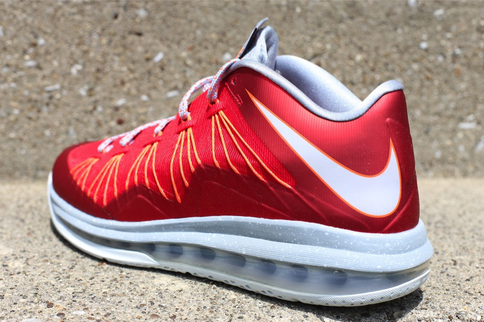Nike Air Max Lebron 10 X Low University Red Grey