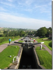 Foxton from the top lock