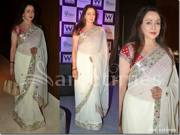 Hema_Malini_Cream_Georgette_Saree