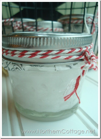 minty sugar scrub @ NorthernCottage.net
