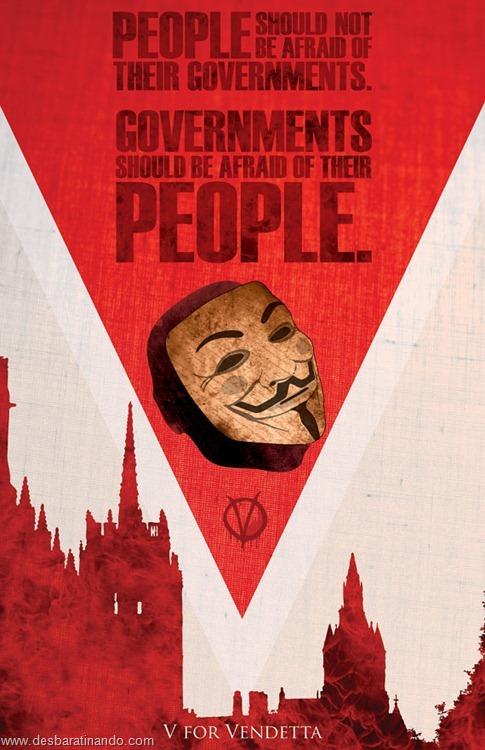 cartazes geeks nerds de filmes famosos  v for vendetta v de vinganca (9)