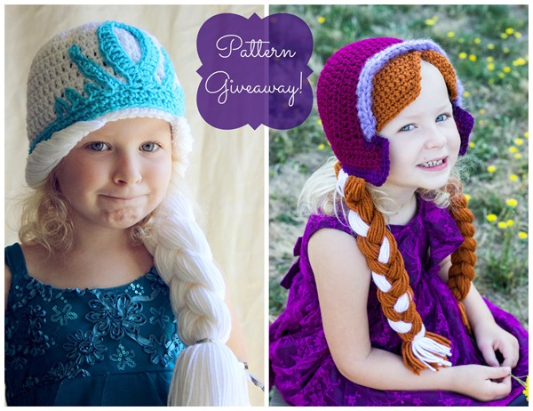 Free Crochet Pattern Frozen Elsa Hat : Crocheting the Day Away: {Giveaway} Anna and Elsa Hat ...