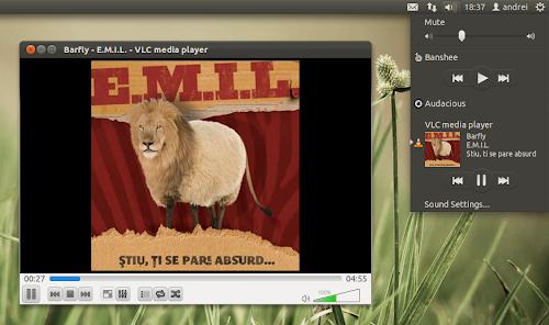 VLC 2.0 nel SoundMenu di Ubuntu