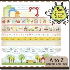 SW A to Z Borders and tags