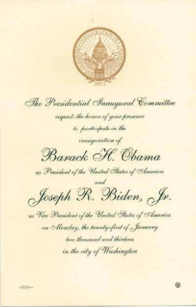 obama inaugural invitation 2013 001