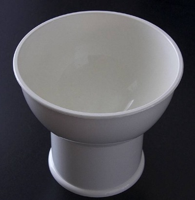 white Hammarplast Sweden 4077 bowl top