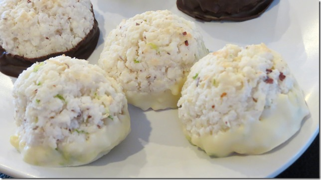 White Chocolate LIme Coconut Macaroons 3-29-13