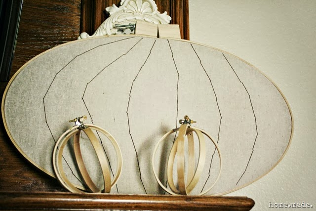 Embroidery Hoop Pumpkin