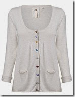 White Stuff Loganberry Cardigan in Natural