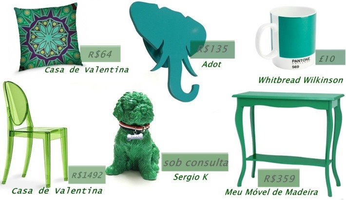 verde esmeralda na decoracao da casa
