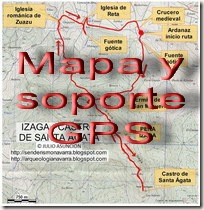 Mapa y soporte GPS - Ruta Cañón del Ubagua