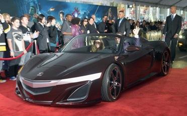 Actor-Robert-Downey-Jr-in-Avengers-sports-car