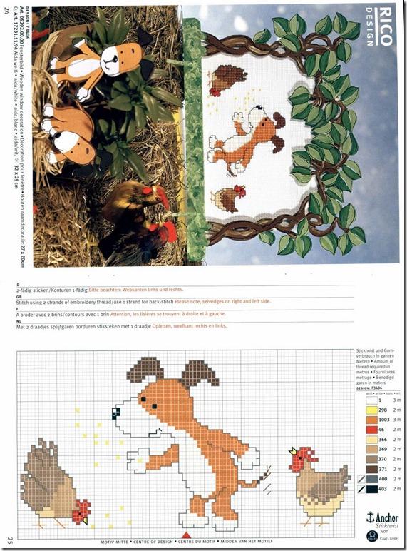 cachorro-galinhas-ponto-cruz-grafico