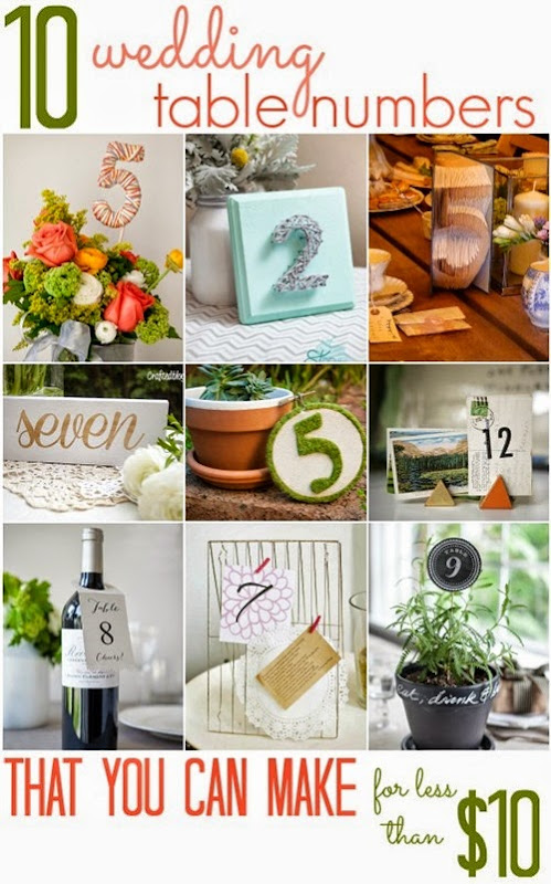 10 Wedding Table Numbers (that you can make for less than $10!)