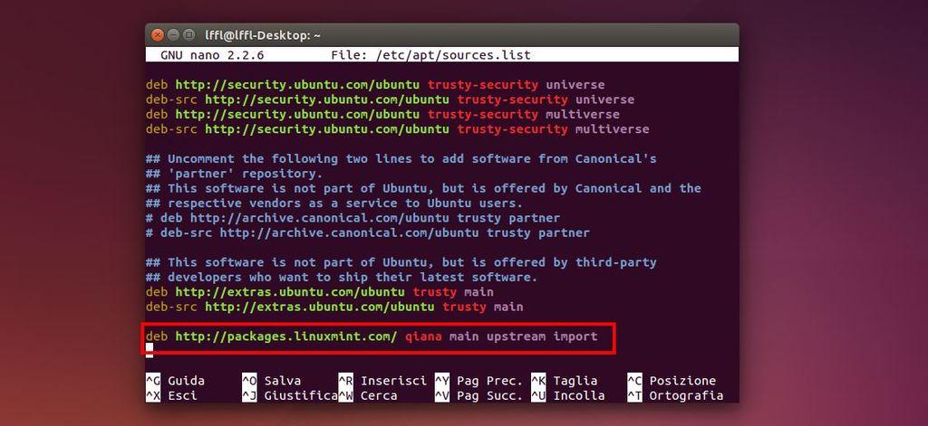 Ubuntu 14.04 - Repository Linux Mint