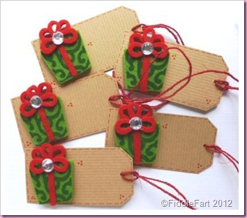 Christmas Parcel Tags Crafts