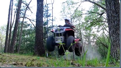 noah on four wheeler
