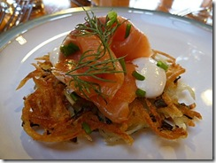 rosti, cream cheese and smoked salmon