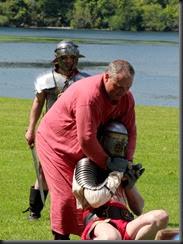 Slave beats Gladiator