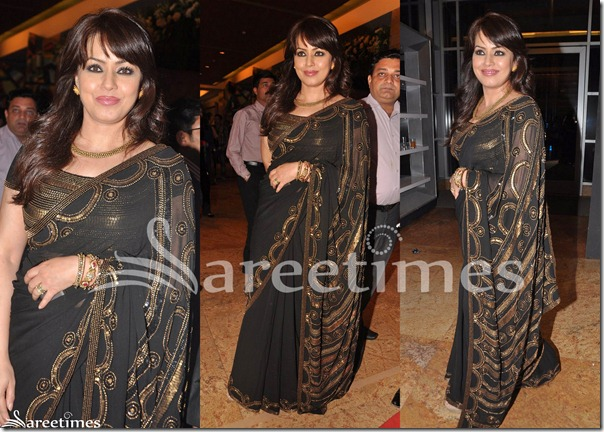 Mahima_Chaudhary_Black_Anita_Dingrea_Saree
