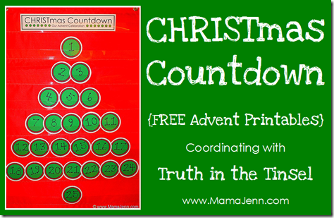 Download my FREE Advent Countdown Printables
