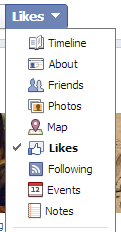 facebook likes settings