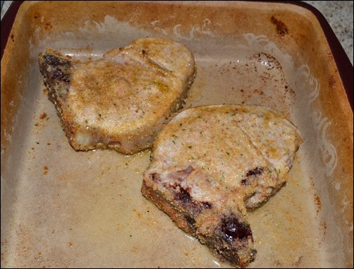cooked pork chops
