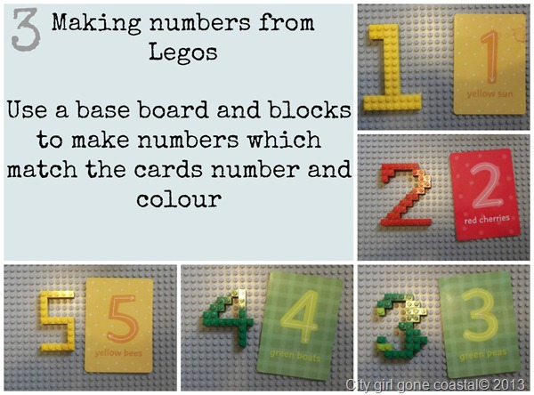 making numbers from lego